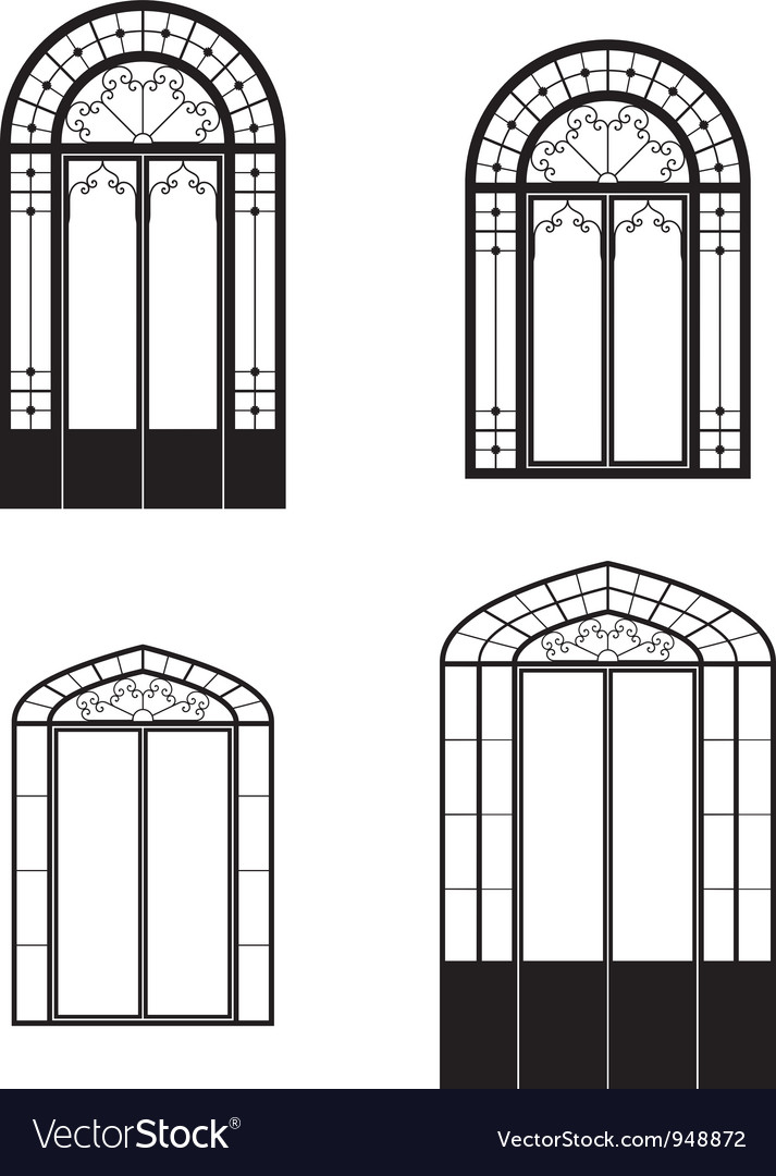 Windows and doorwindows vector | Price: 1 Credit (USD $1)