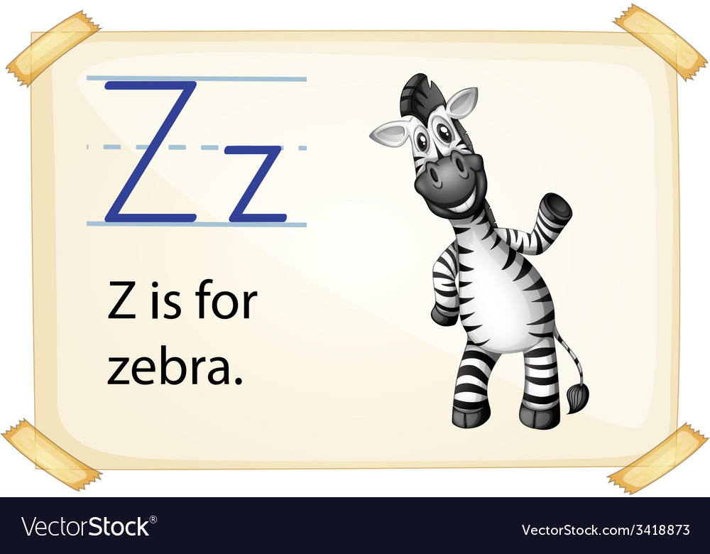 A letter z for zebra vector | Price: 1 Credit (USD $1)