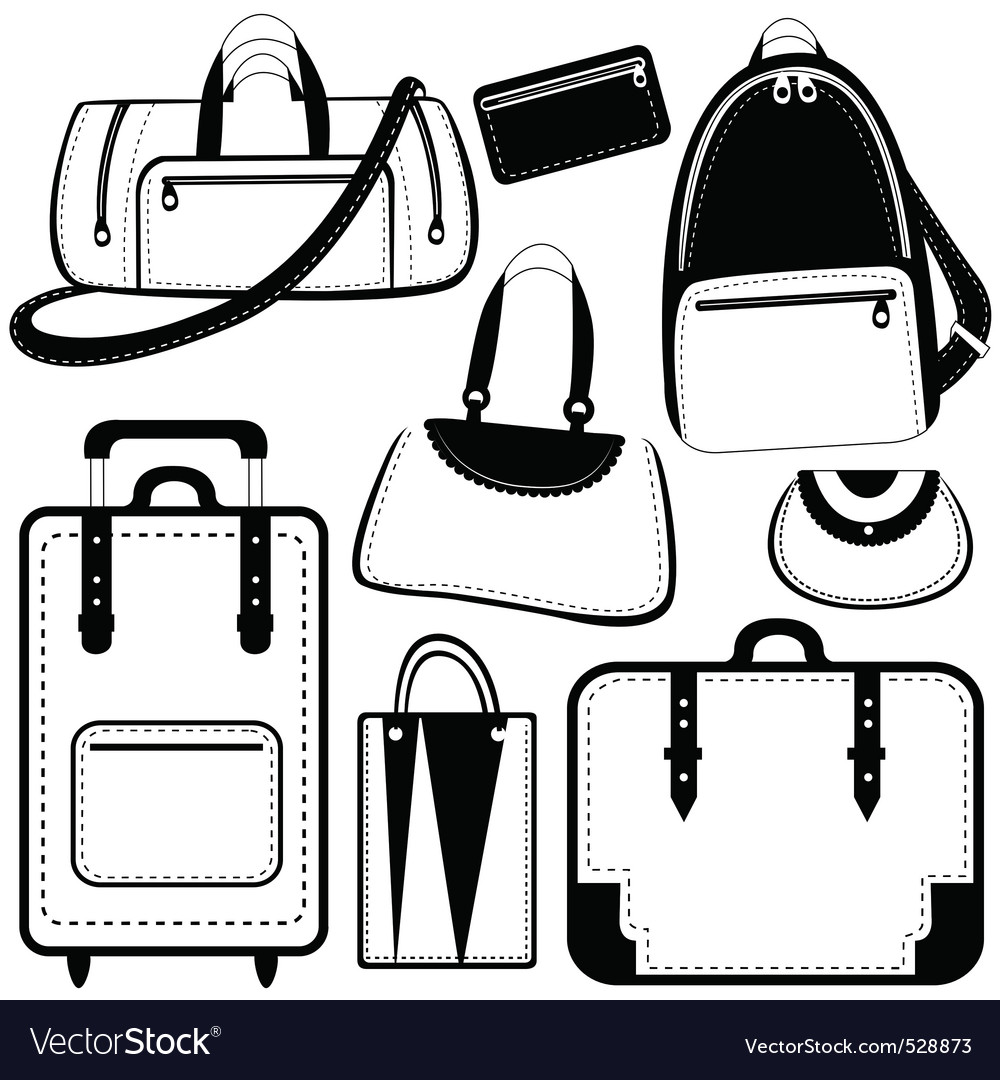 Bag set vector | Price: 1 Credit (USD $1)