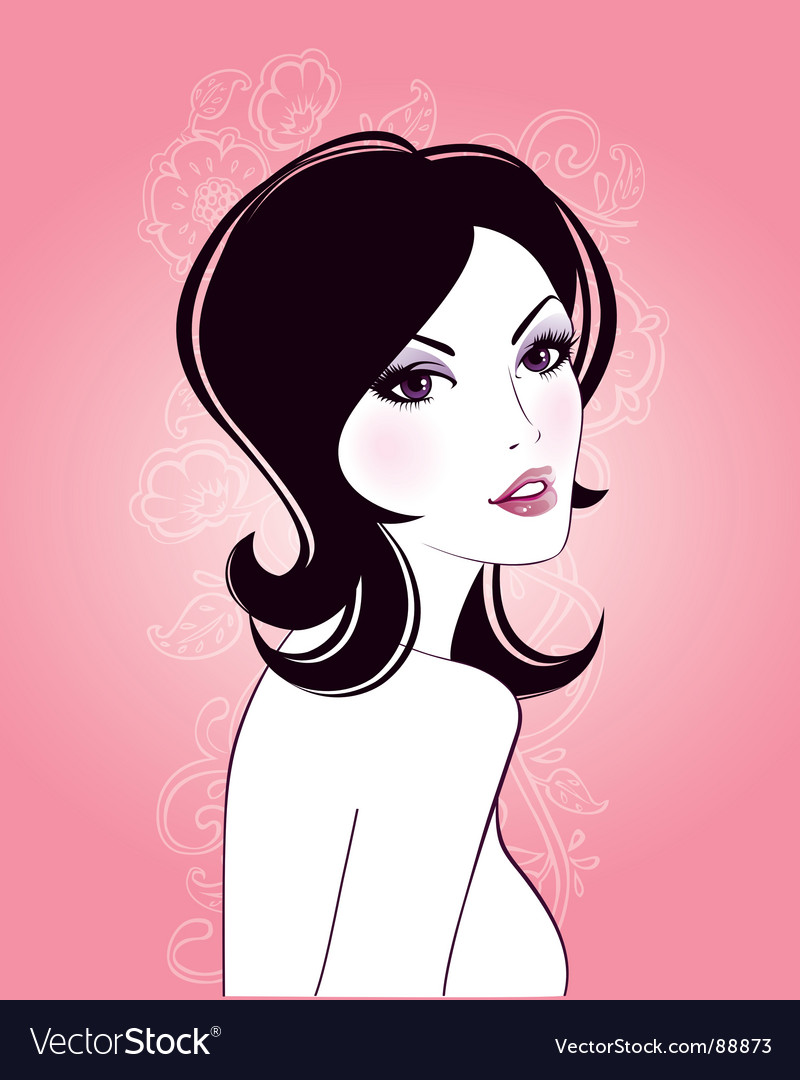 Beauty girl vector | Price: 3 Credit (USD $3)