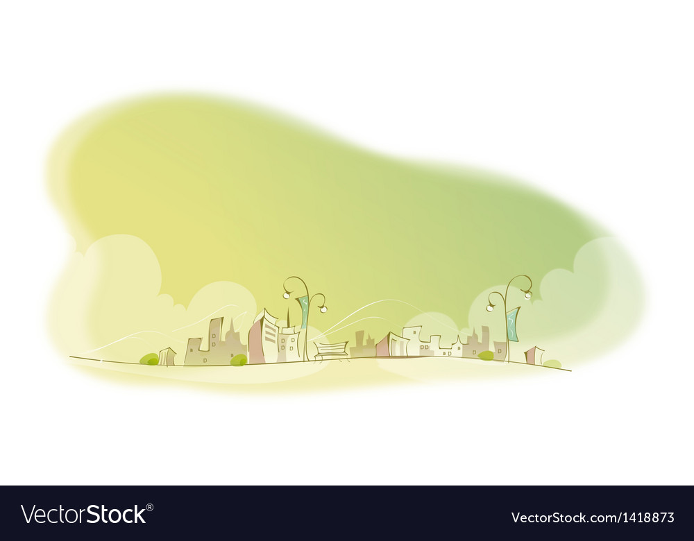 City skyline vector | Price: 1 Credit (USD $1)