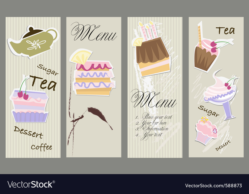 Dessert menu vector | Price: 1 Credit (USD $1)