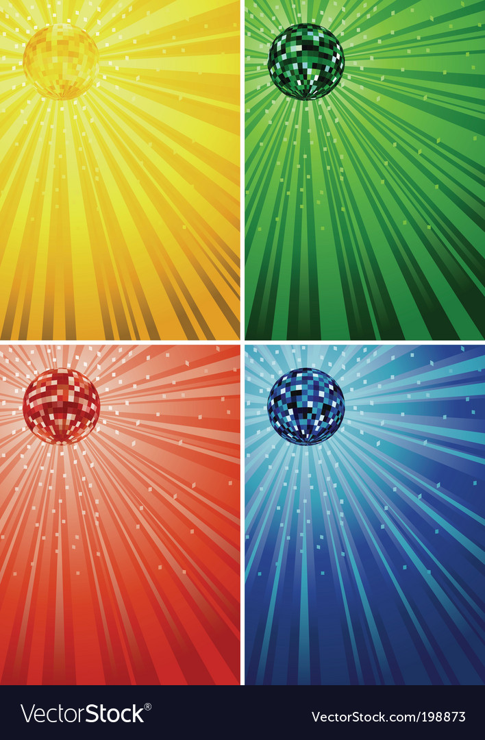 Disco ball backgrounds vector | Price: 1 Credit (USD $1)