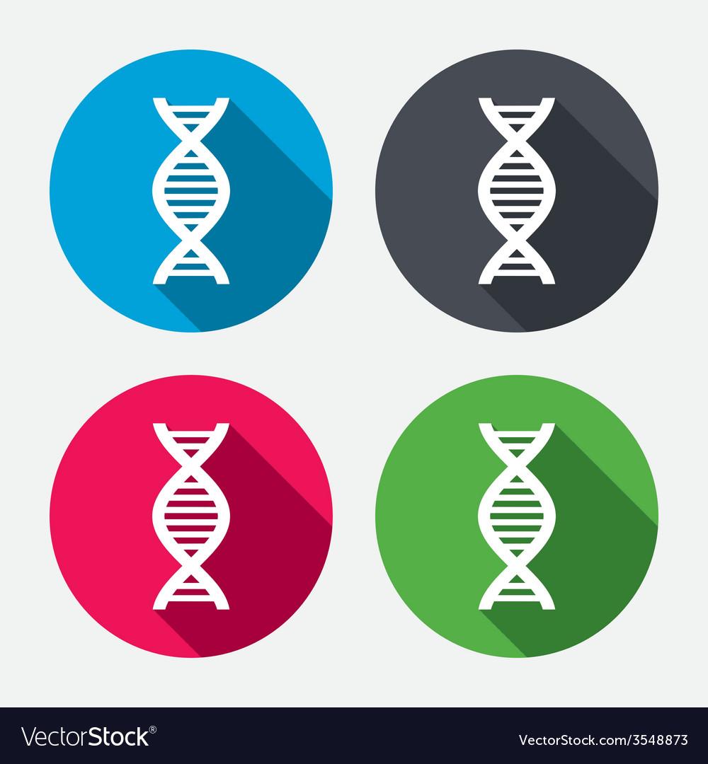 Dna sign icon deoxyribonucleic acid symbol vector | Price: 1 Credit (USD $1)