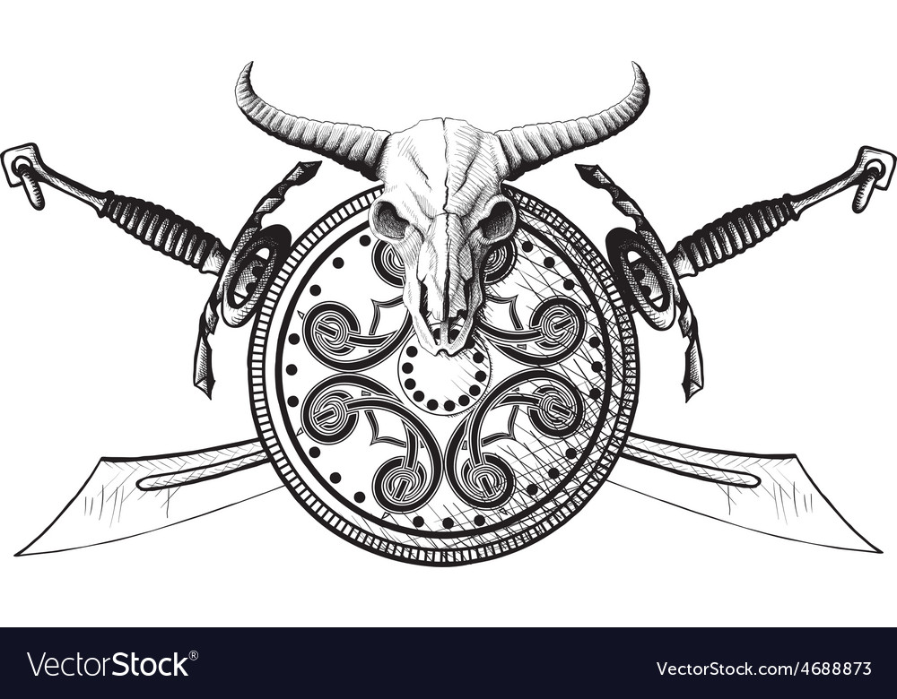 The emblem of the viking vector | Price: 1 Credit (USD $1)