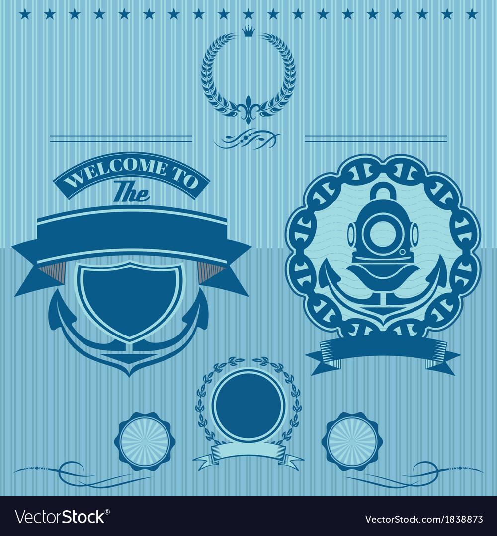Label for underwater work vector | Price: 1 Credit (USD $1)