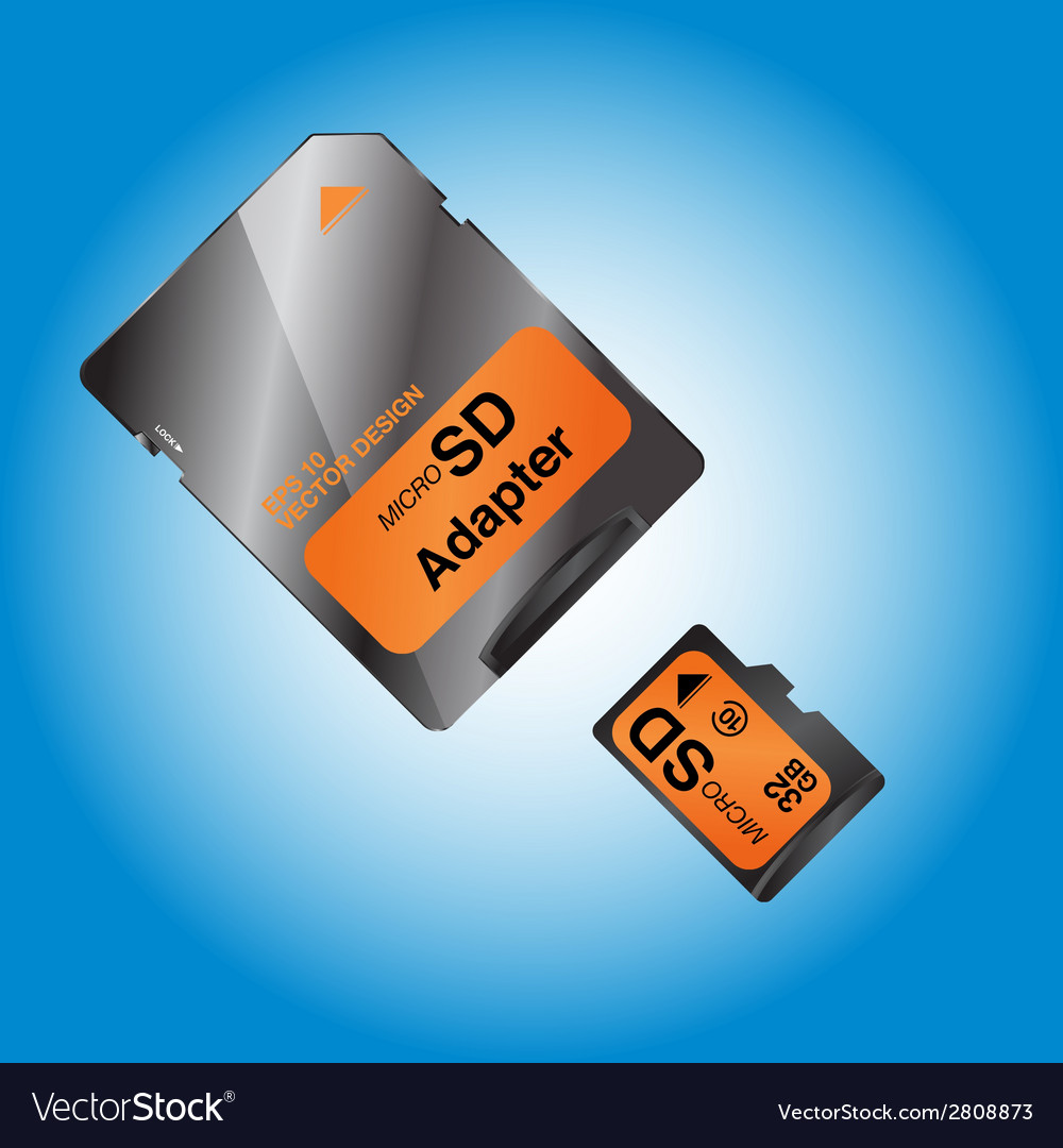 Micro sd vector | Price: 1 Credit (USD $1)