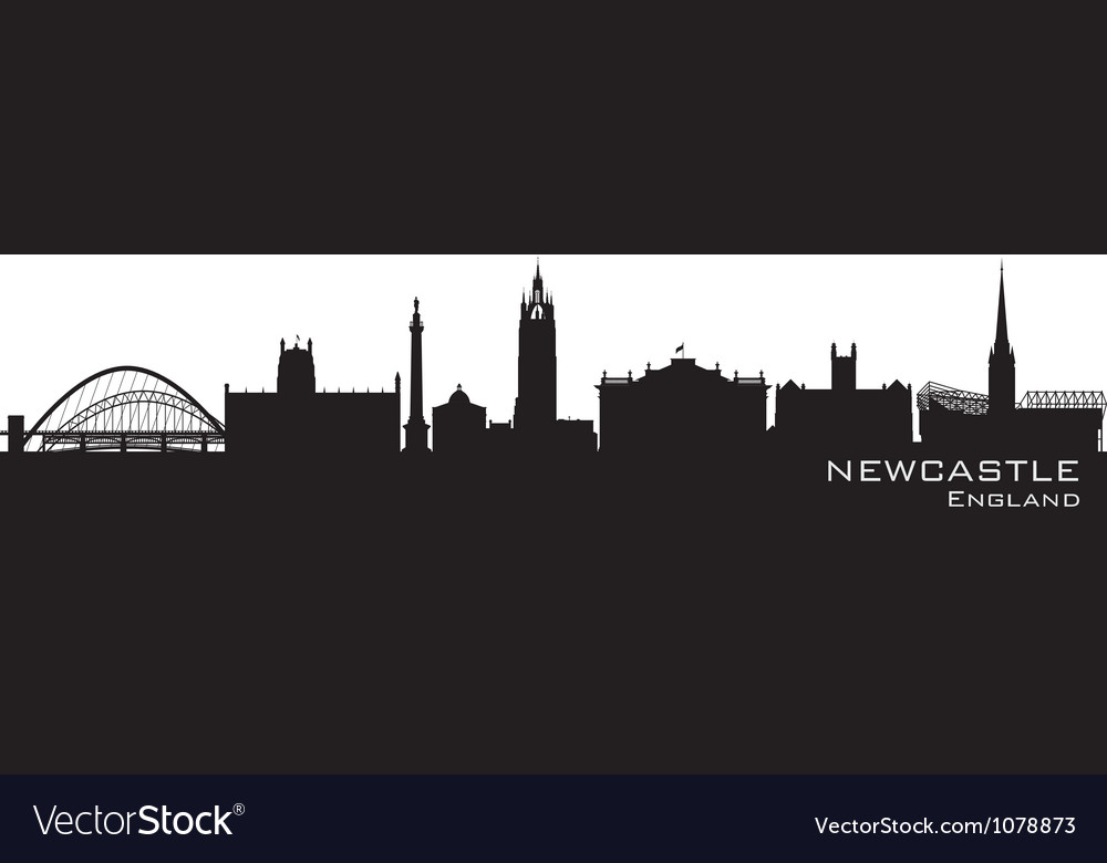 Newcastle england skyline detailed silhouette vector | Price: 1 Credit (USD $1)