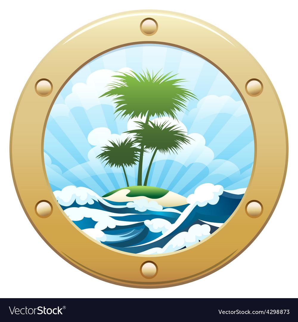 Palm island vector | Price: 1 Credit (USD $1)