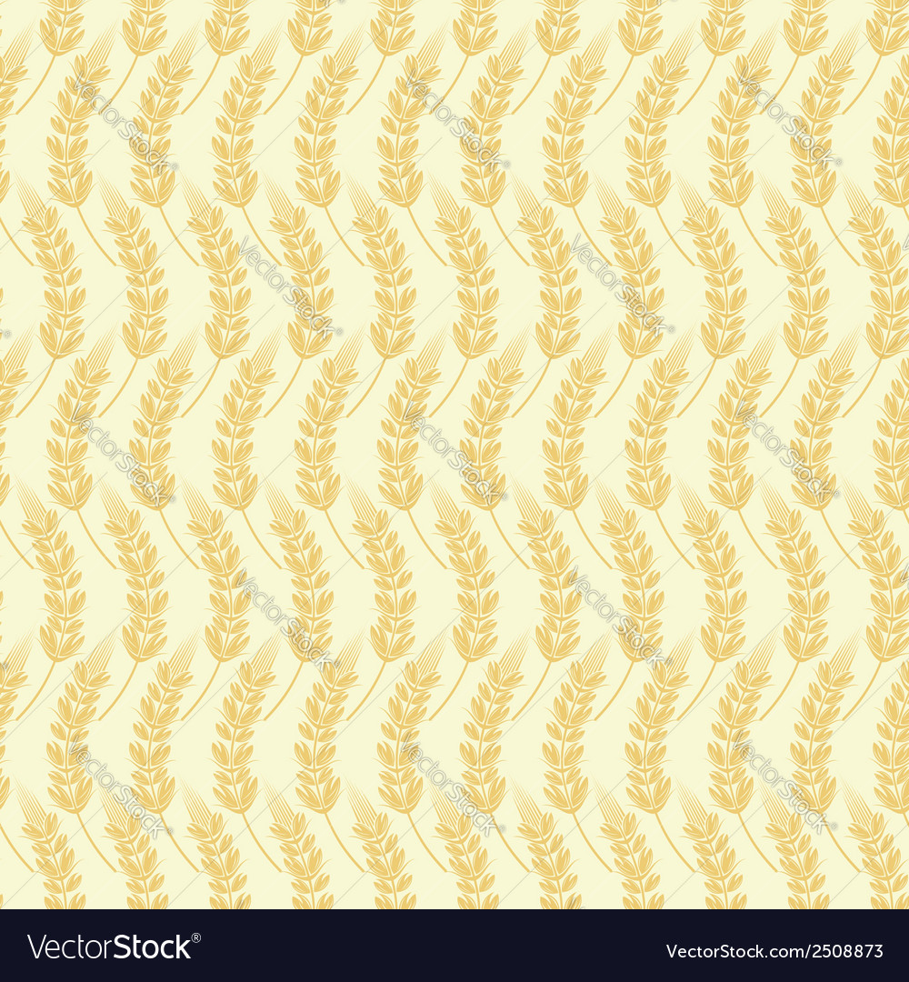 Seamless background of ears of grain vector | Price: 1 Credit (USD $1)