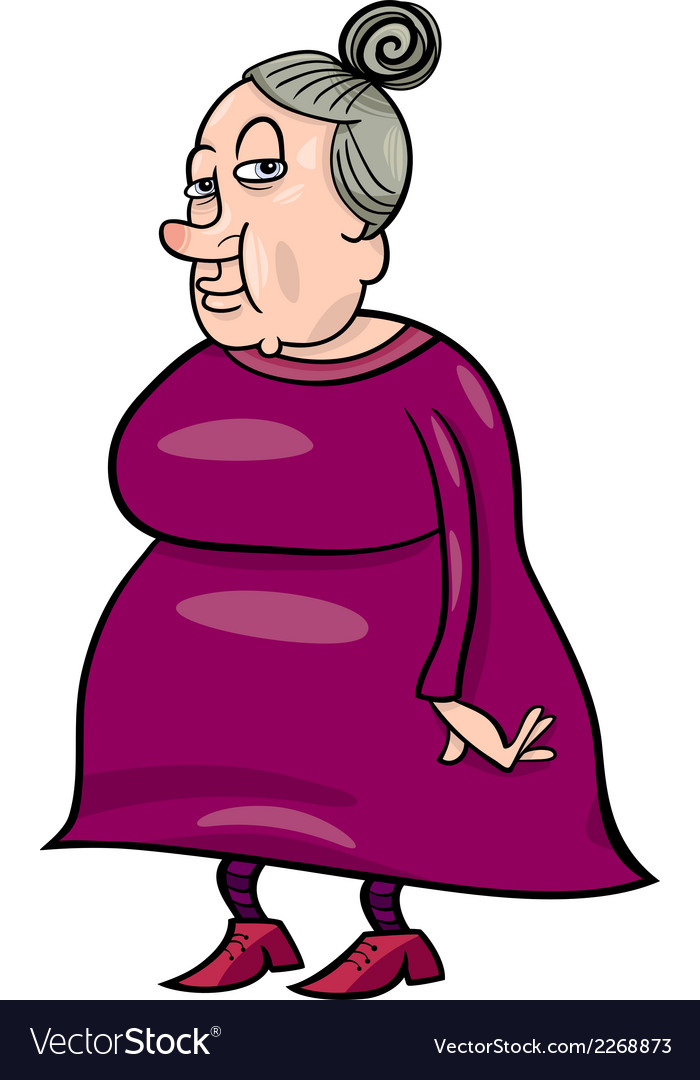 Senior grandmother cartoon vector | Price: 1 Credit (USD $1)