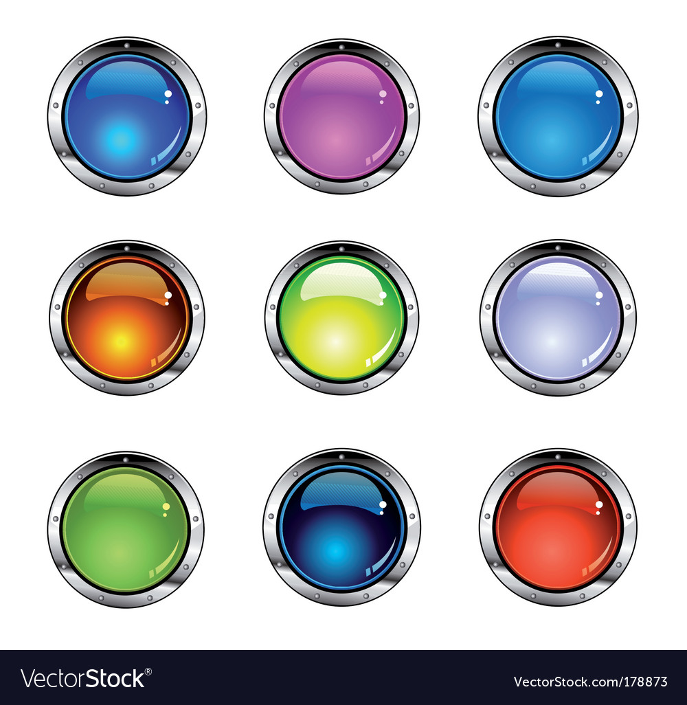 Shiny colorful buttons vector | Price: 3 Credit (USD $3)