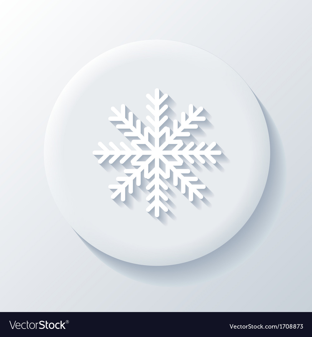 Snowflake 3d paper icon vector | Price: 1 Credit (USD $1)