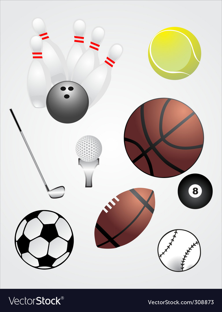 Sport ball set vector | Price: 3 Credit (USD $3)