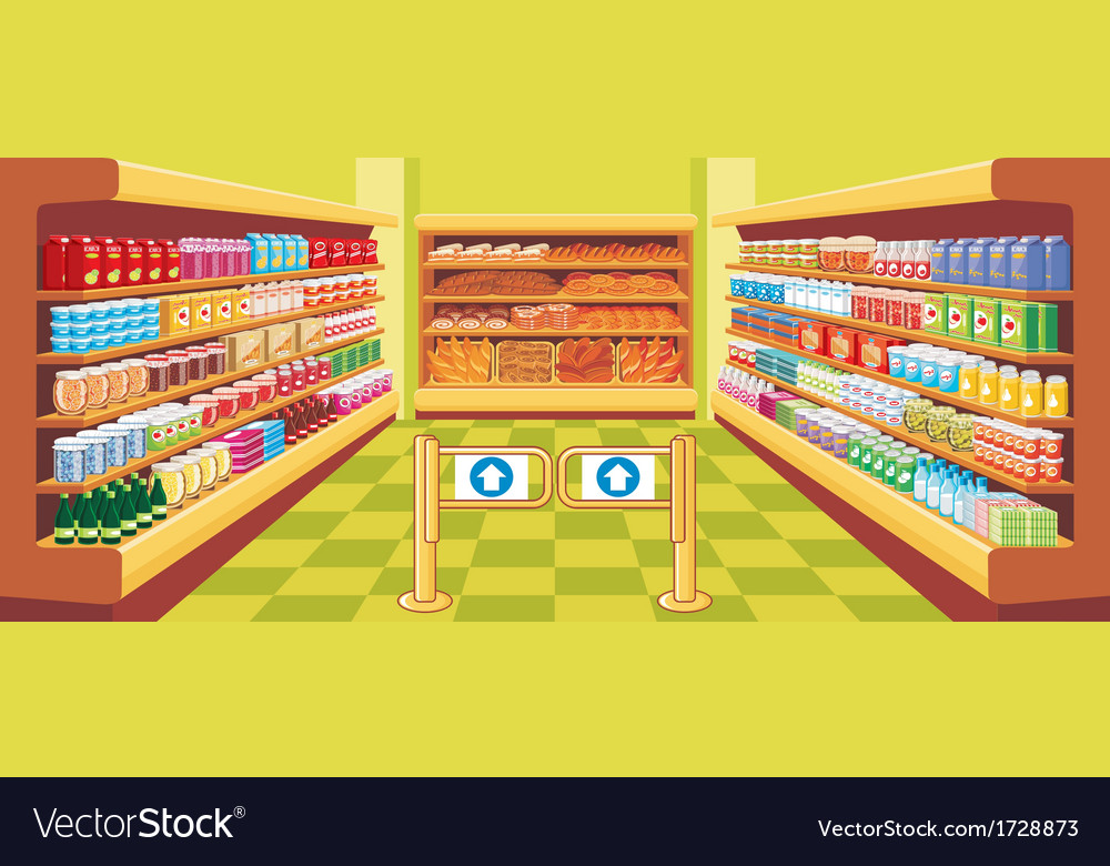 Supermarket vector | Price: 3 Credit (USD $3)