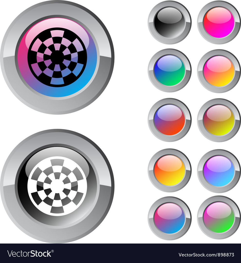 Target multicolor round button vector | Price: 1 Credit (USD $1)