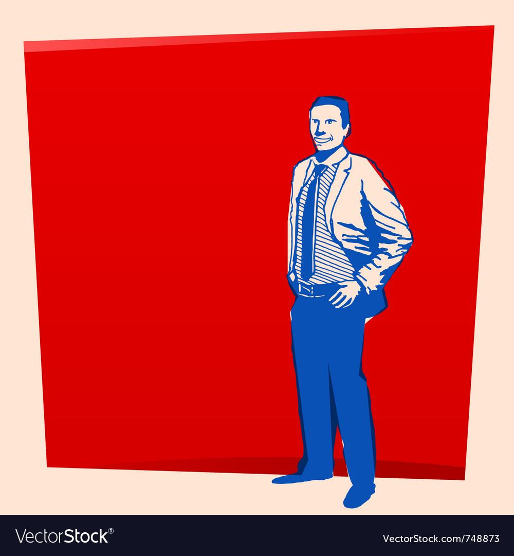 Vintage business man vector   Price: 1 Credit (USD $1)