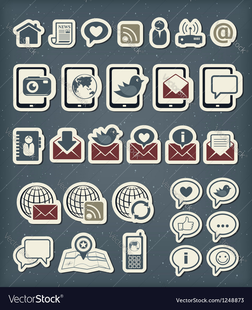 Web communication icons vector | Price: 1 Credit (USD $1)