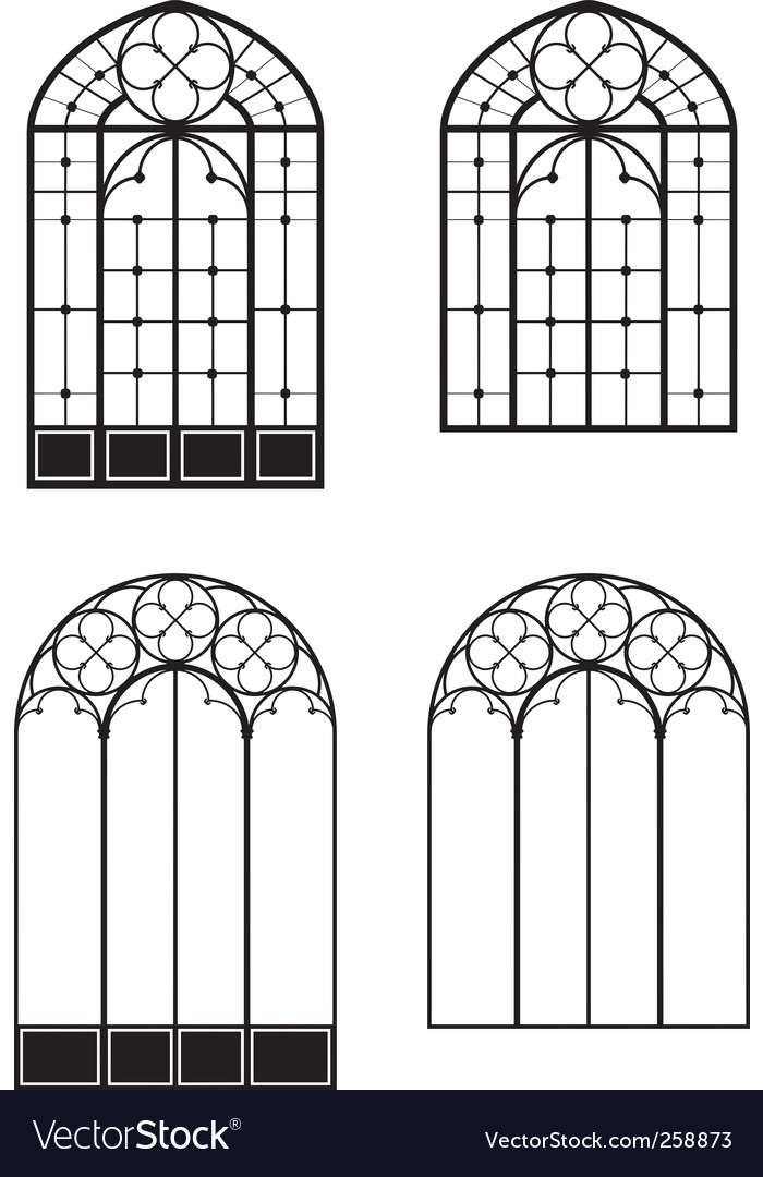 Windows and door windows vector | Price: 1 Credit (USD $1)