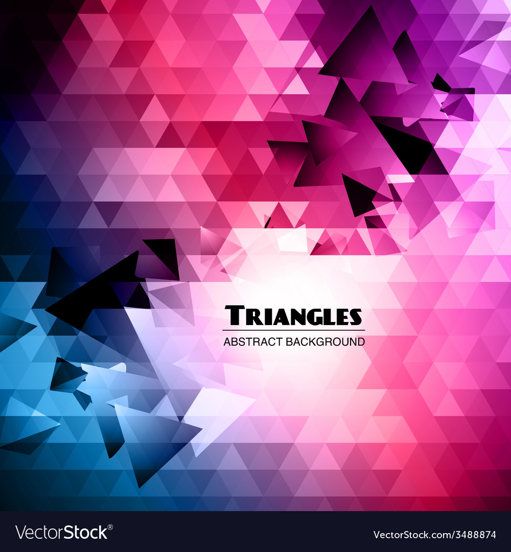 Abstract triangular mosaic background vector   Price: 1 Credit (USD $1)