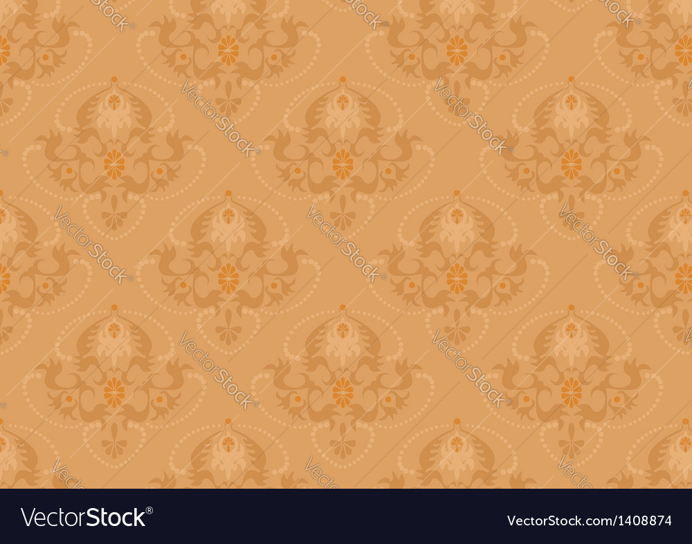 Classic seamless background with orange shade vector | Price: 1 Credit (USD $1)
