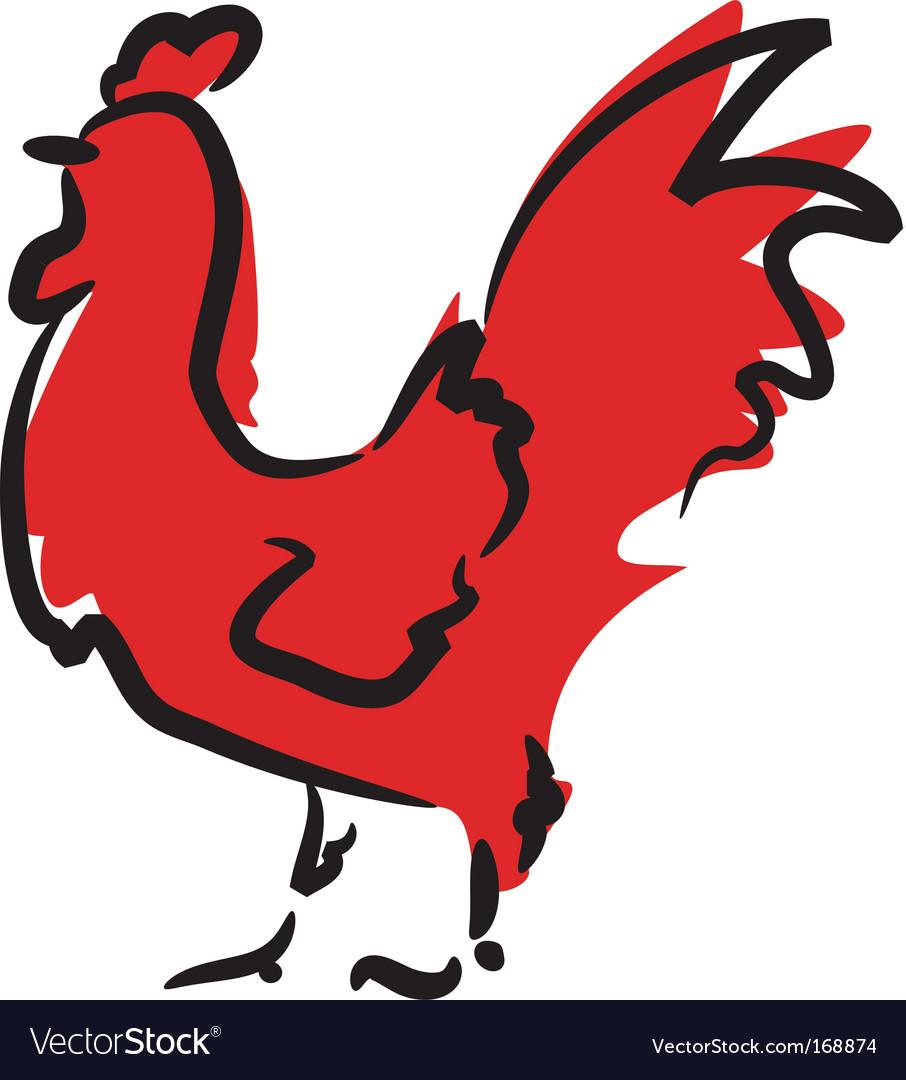 Cockerel vector | Price: 1 Credit (USD $1)