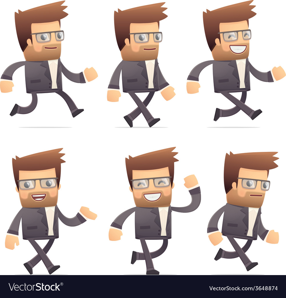 Set of director character in different poses vector | Price: 3 Credit (USD $3)