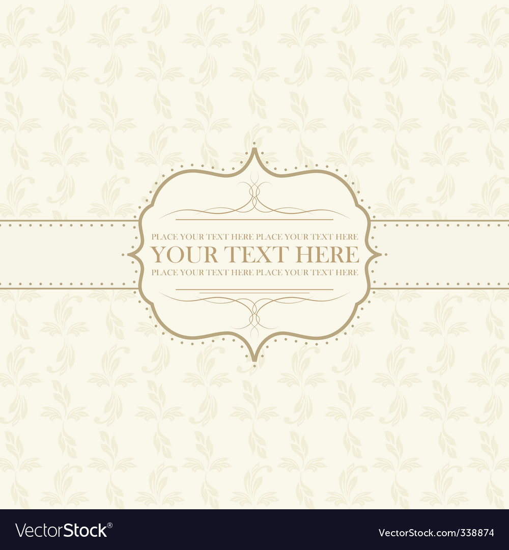 vintage card vector | Price: 1 Credit (USD $1)