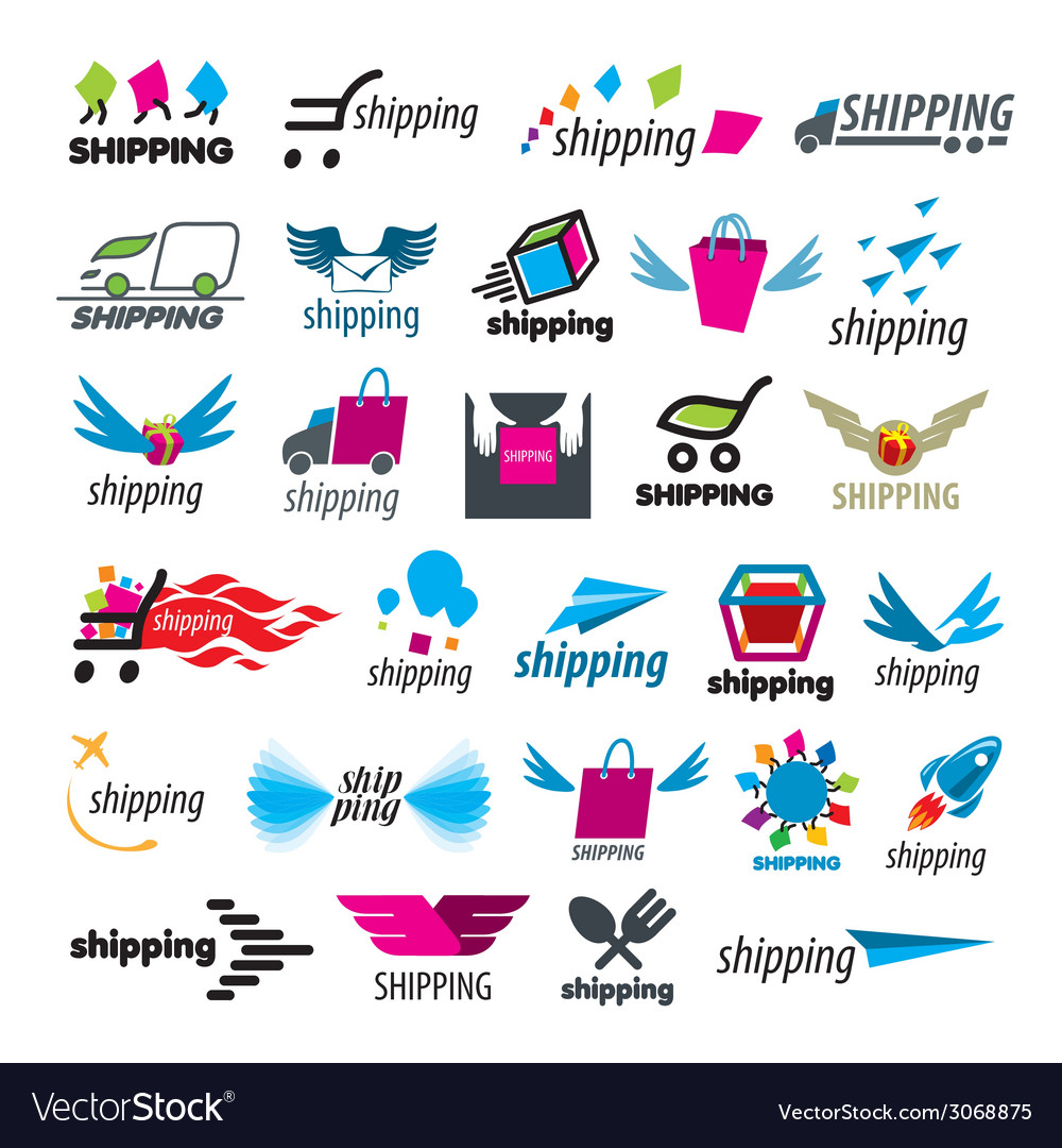 Biggest collection of logos of shipping vector | Price: 1 Credit (USD $1)