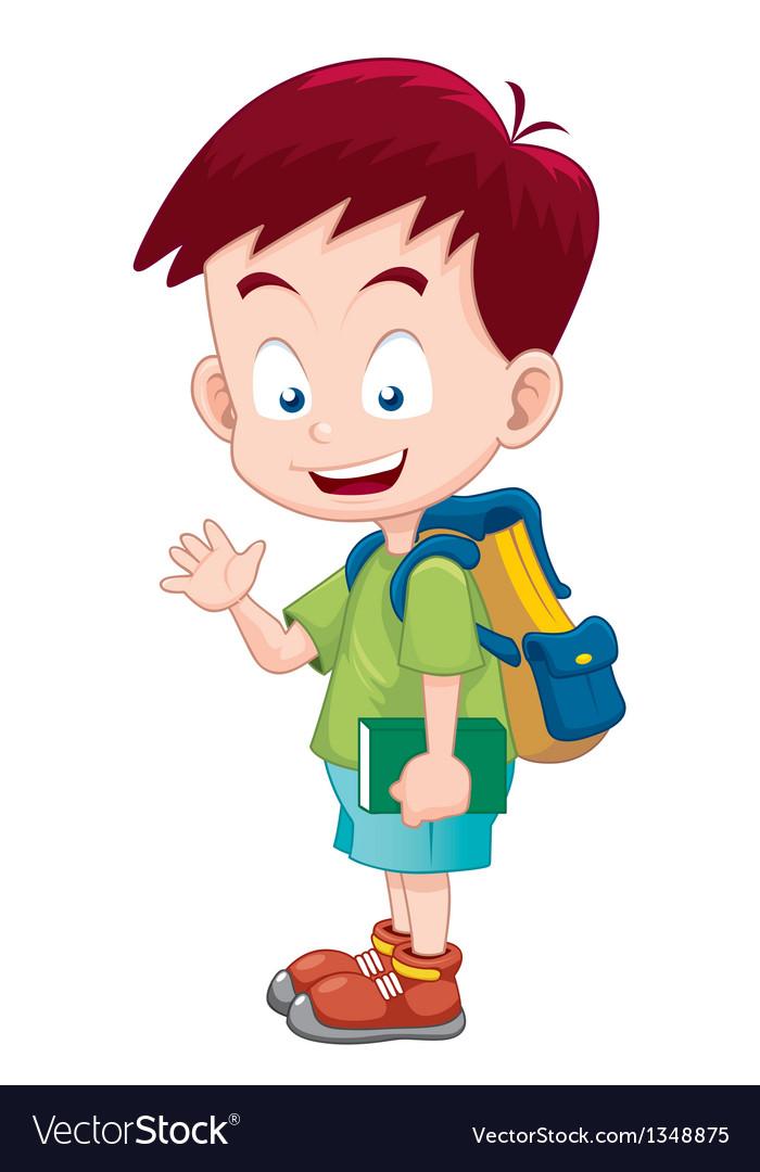 Boy back to school vector | Price: 1 Credit (USD $1)