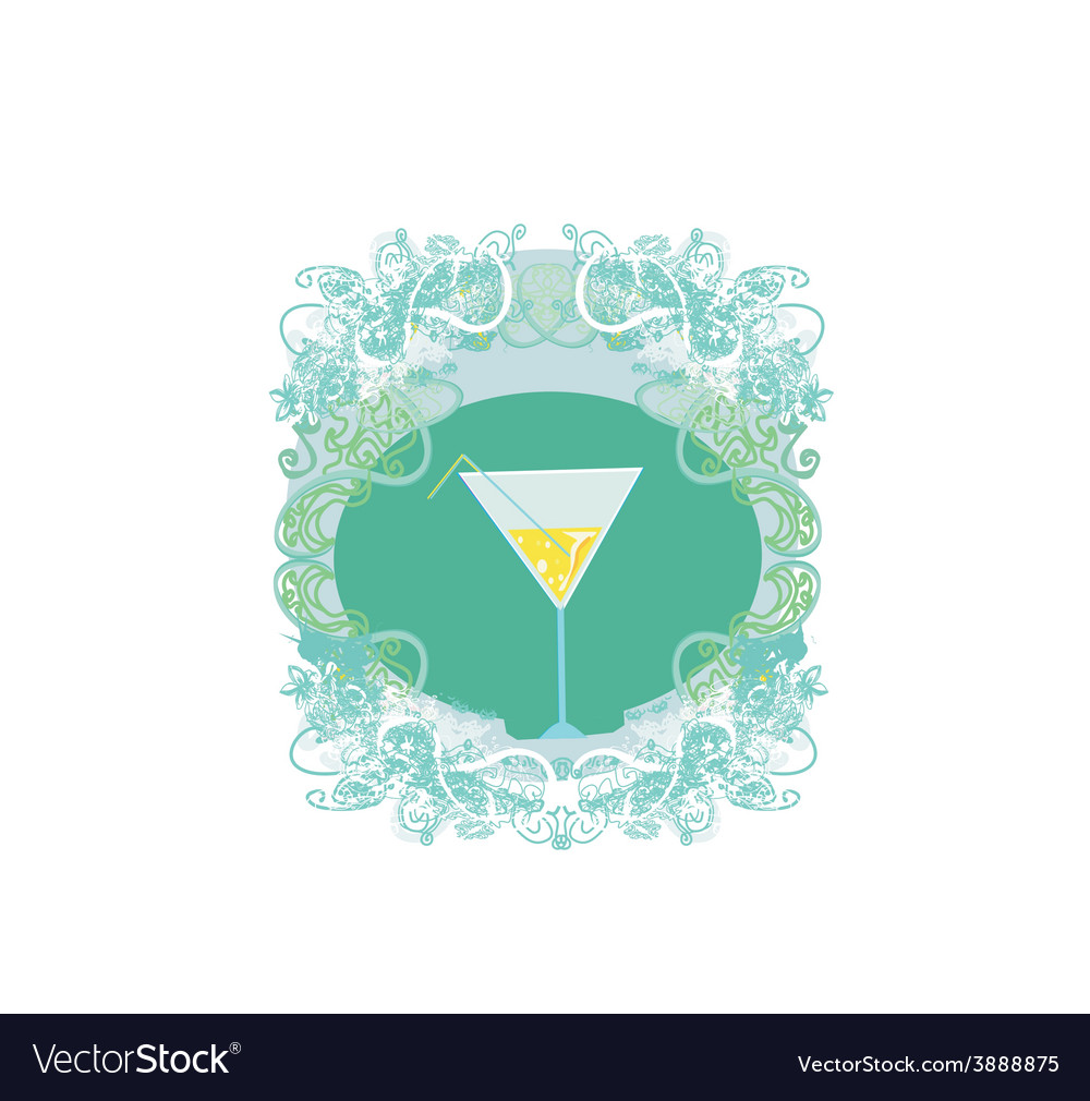Cocktail party invitation card vector | Price: 1 Credit (USD $1)