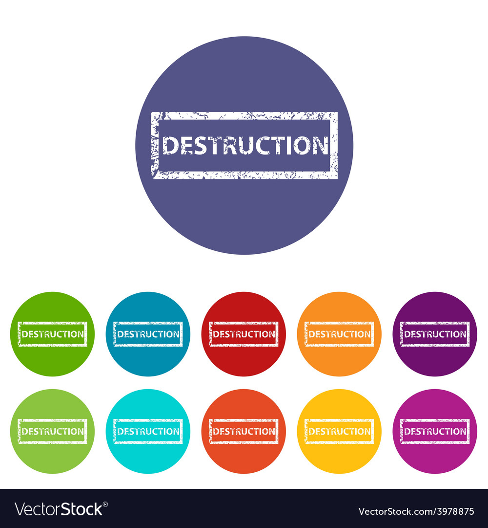 Destruction flat icon vector | Price: 1 Credit (USD $1)