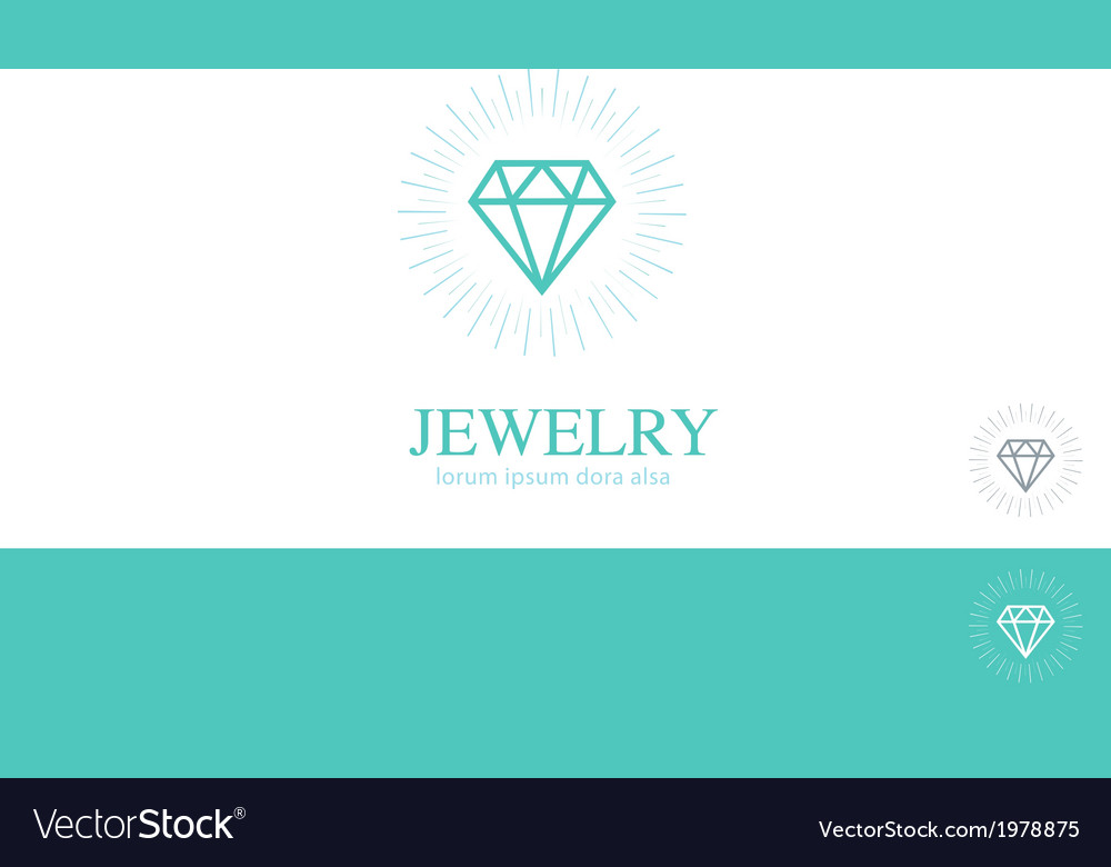 Diamond jewelry jewler logo concept design element vector | Price: 1 Credit (USD $1)