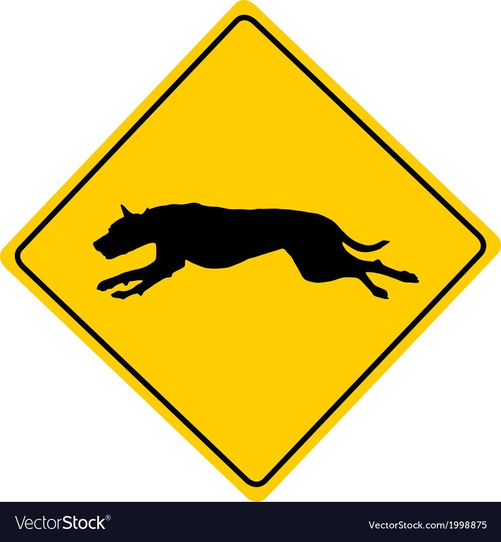 Dog warning sign vector | Price: 1 Credit (USD $1)