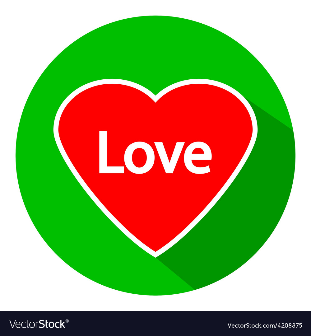 Love sign button vector | Price: 1 Credit (USD $1)