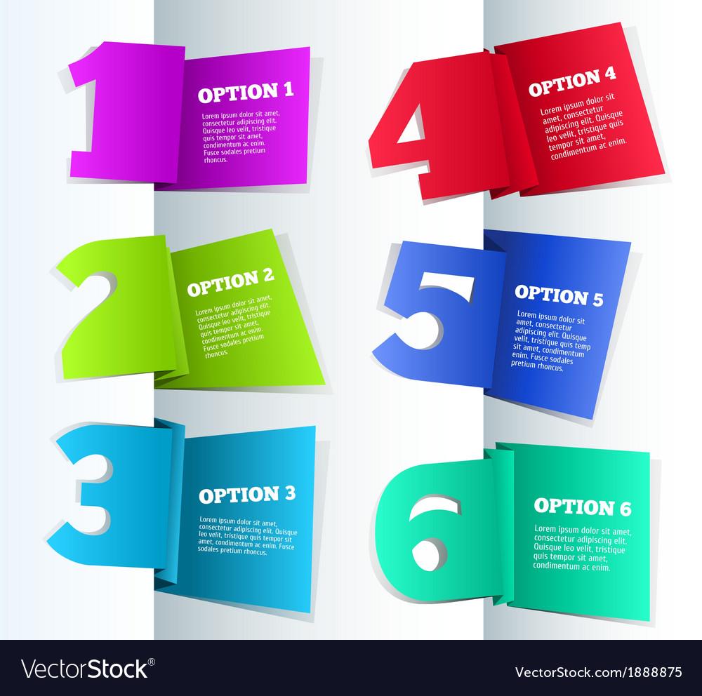 Paper 3d progress background vector | Price: 1 Credit (USD $1)