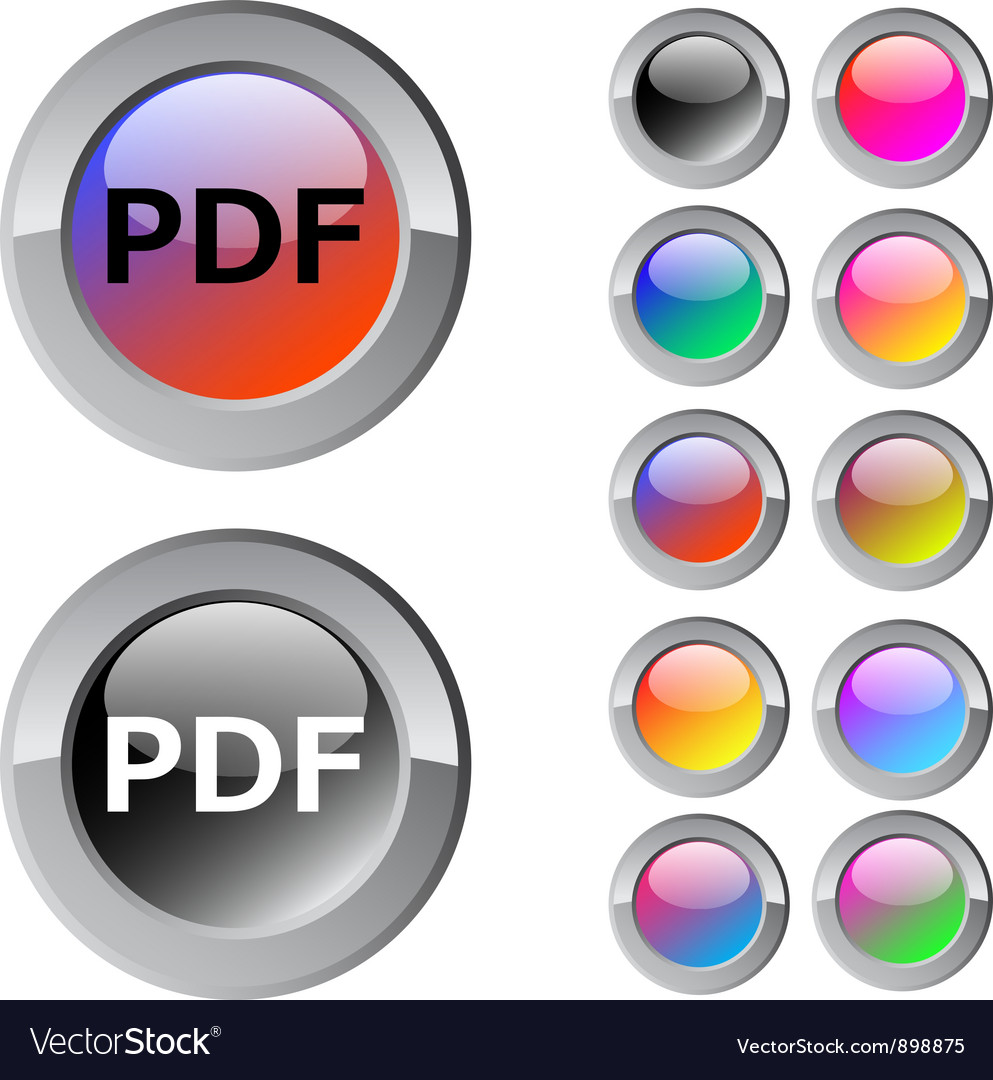 Pdf multicolor round button vector | Price: 1 Credit (USD $1)