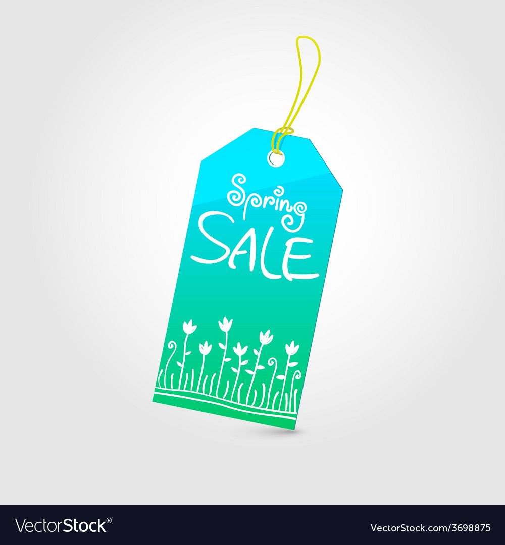 Spring sale tag 02 vector | Price: 1 Credit (USD $1)