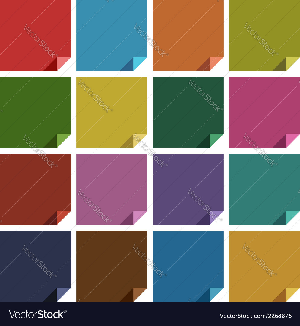 16 retro colored blank square vector | Price: 1 Credit (USD $1)