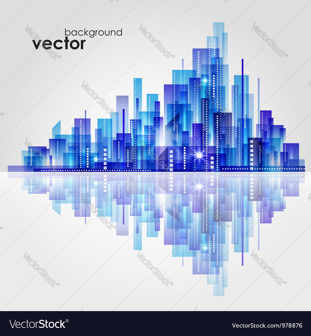 Abstract cityscape background vector | Price: 1 Credit (USD $1)