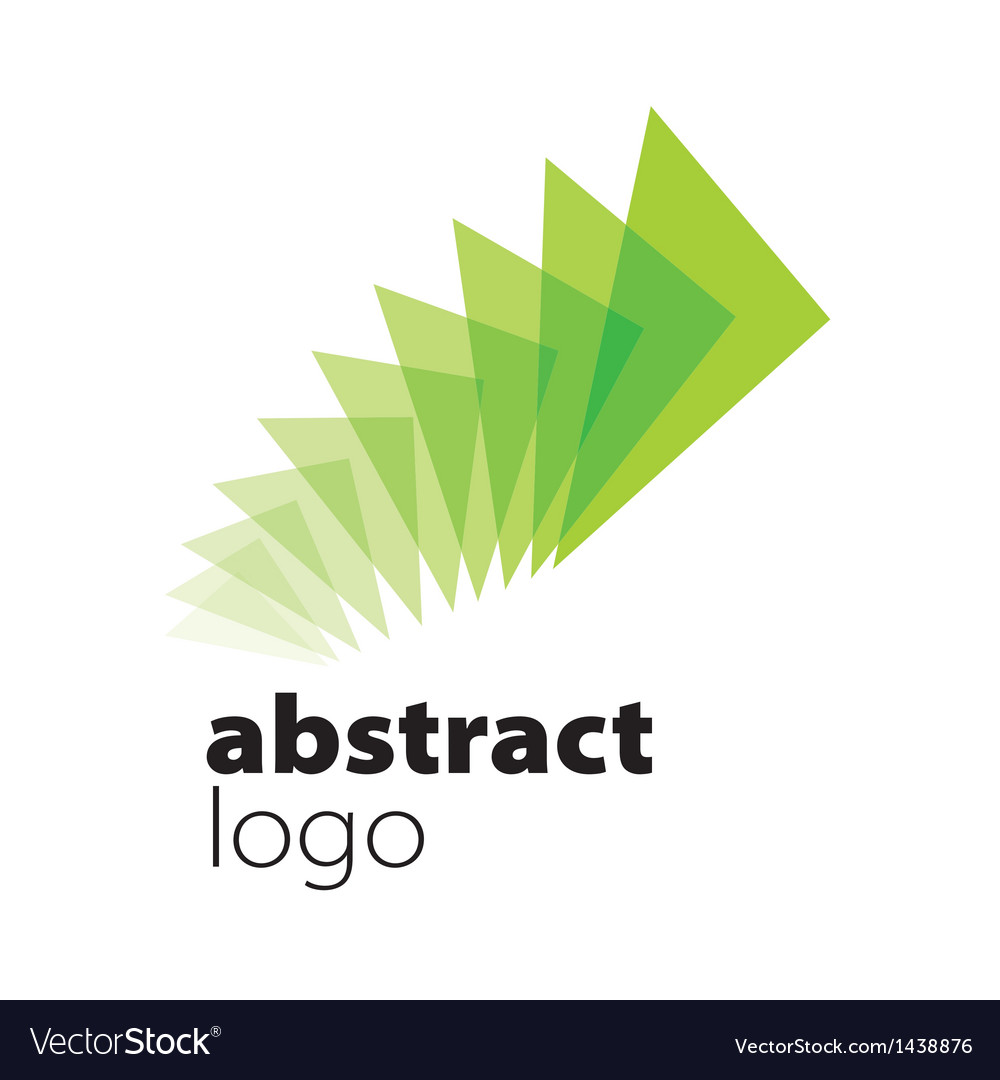 Abstract logo spectrum curved sheets vector | Price: 1 Credit (USD $1)