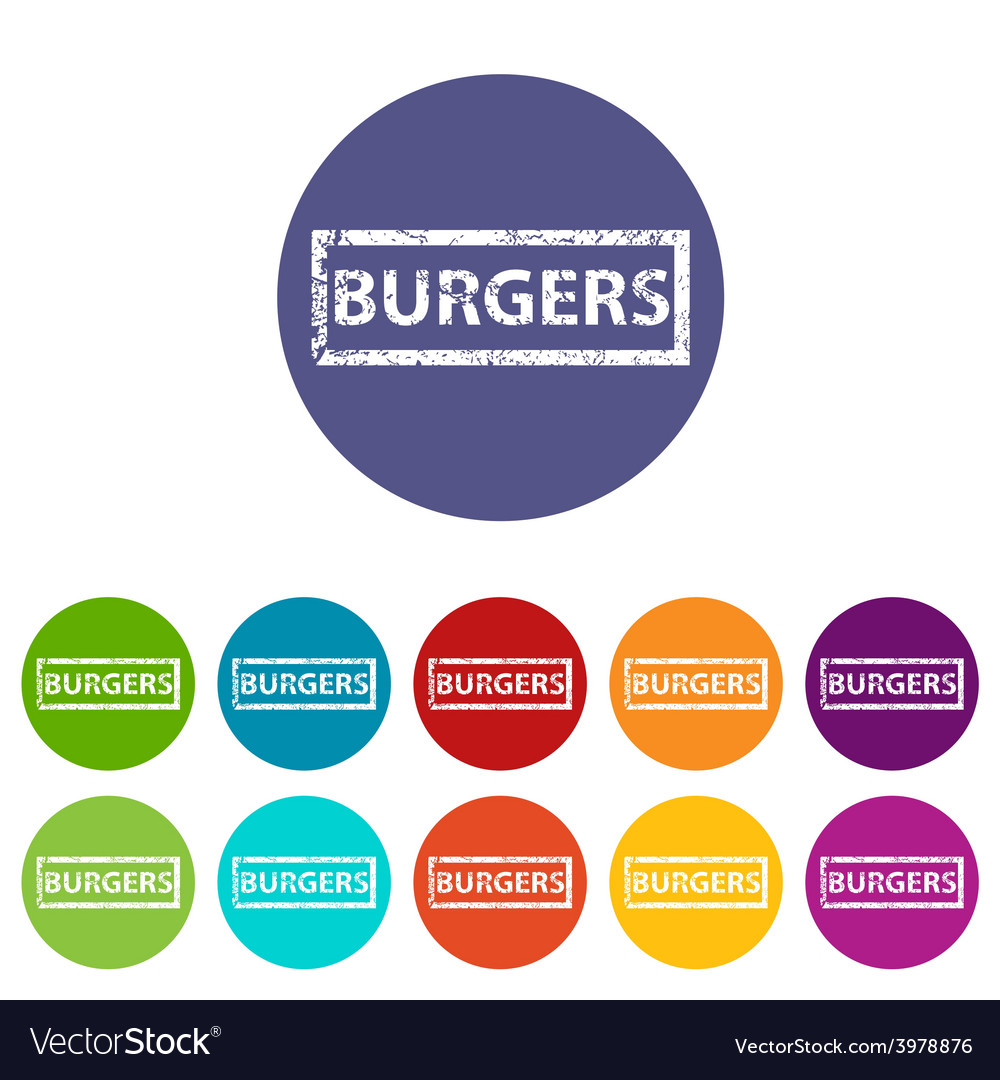 Burgers flat icon vector | Price: 1 Credit (USD $1)