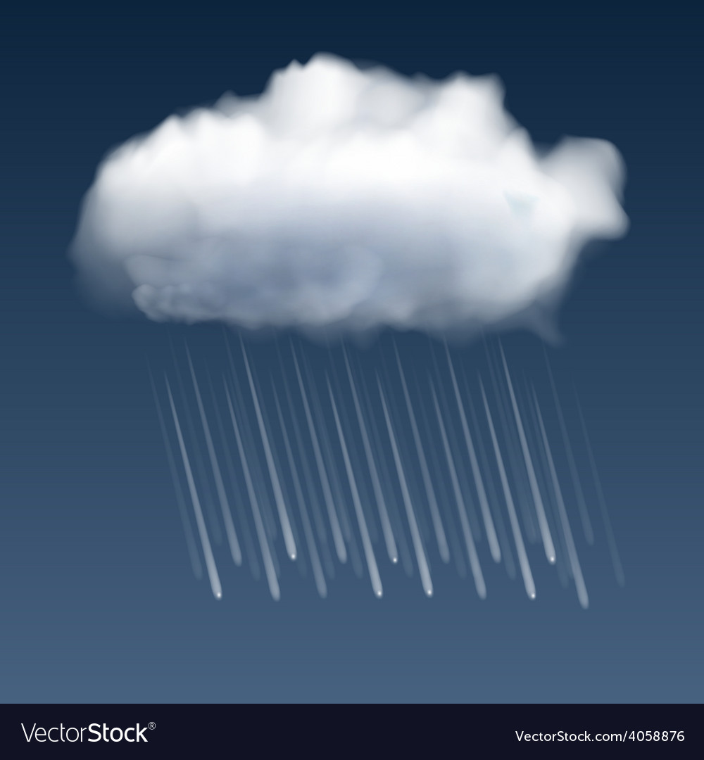 Cloud with rain drops vector | Price: 1 Credit (USD $1)