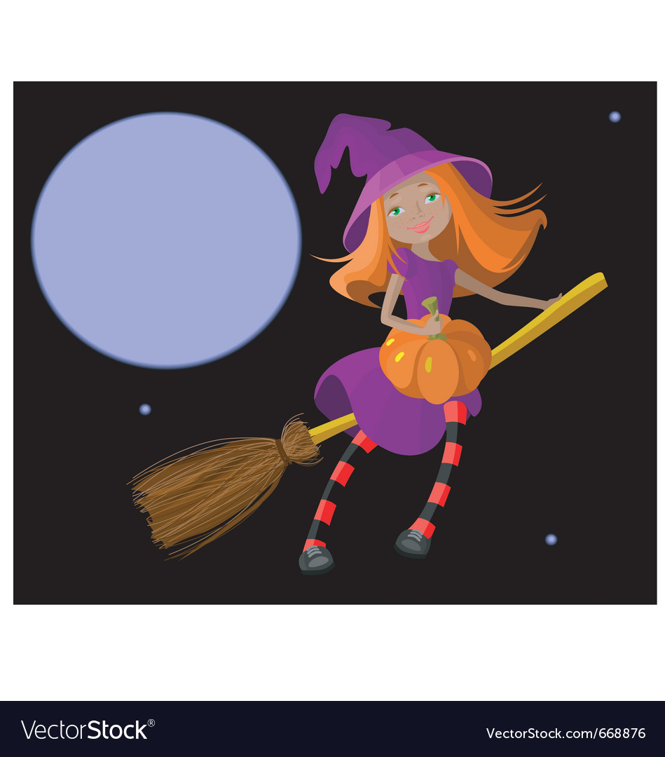 Cute witch vector | Price: 3 Credit (USD $3)