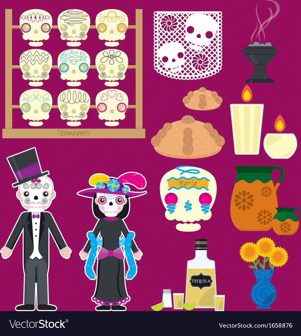 Dia de muertos vector | Price: 1 Credit (USD $1)