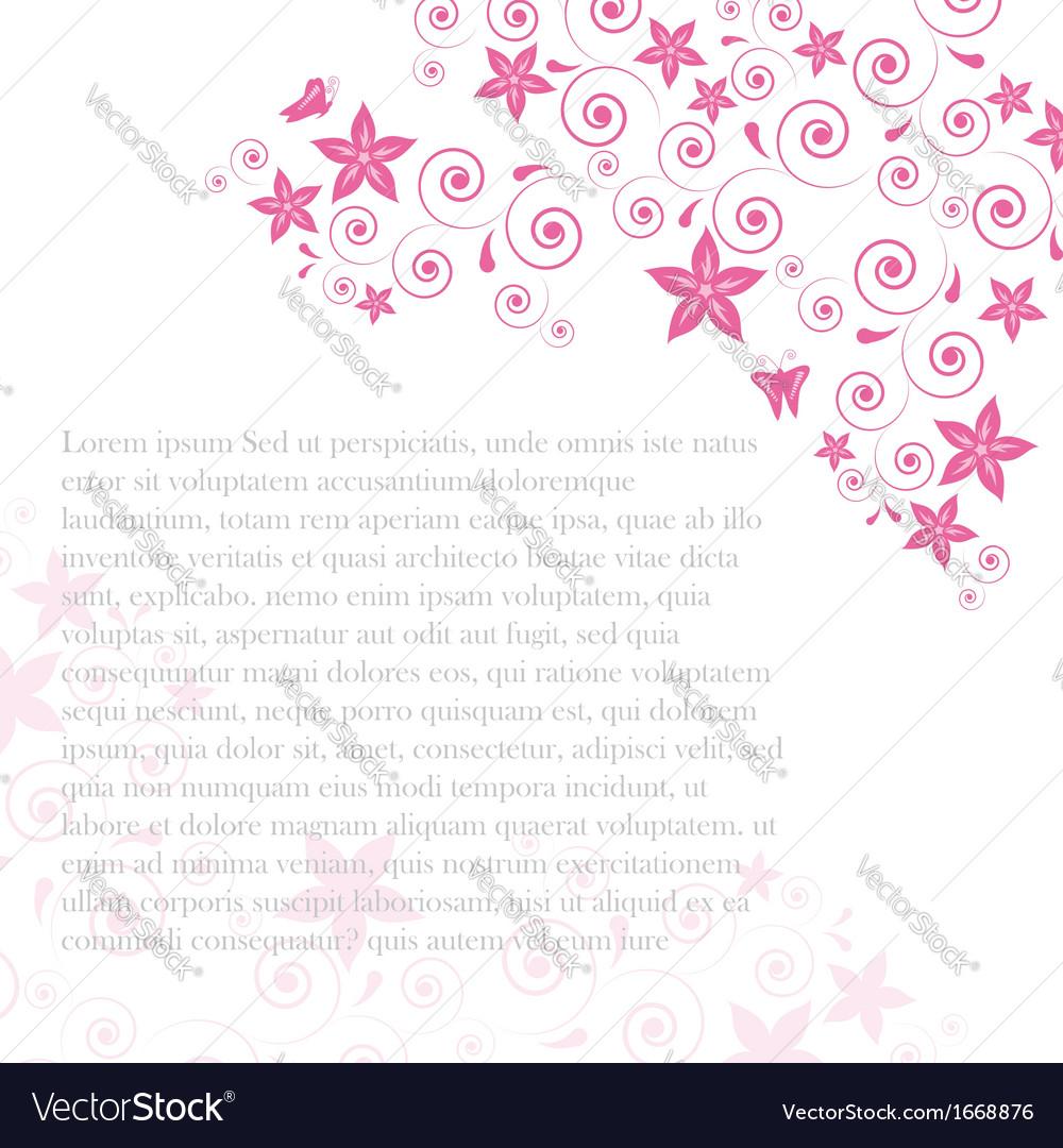 Floral swirls vector | Price: 1 Credit (USD $1)