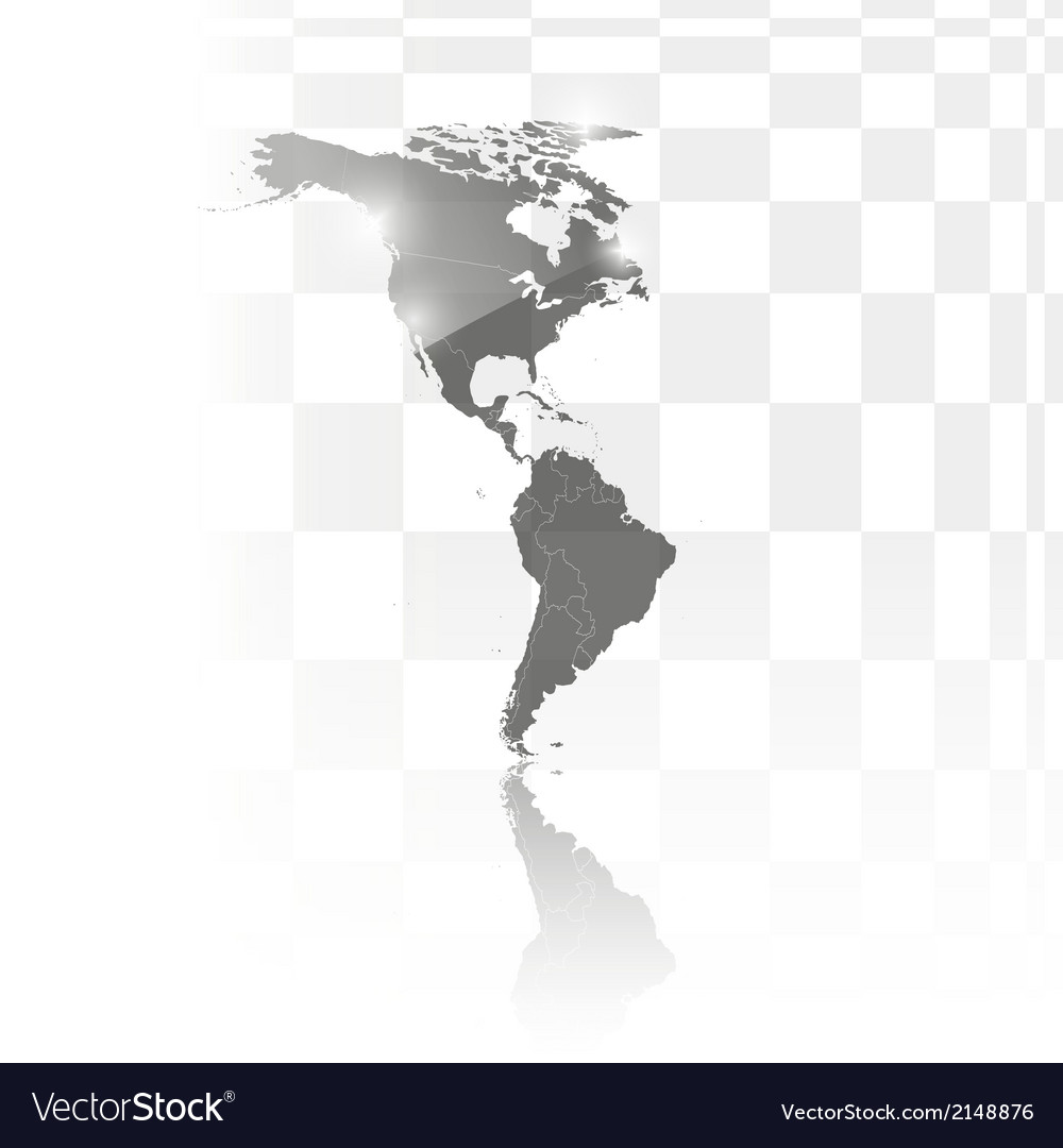 North and south america map background vector   Price: 1 Credit (USD $1)