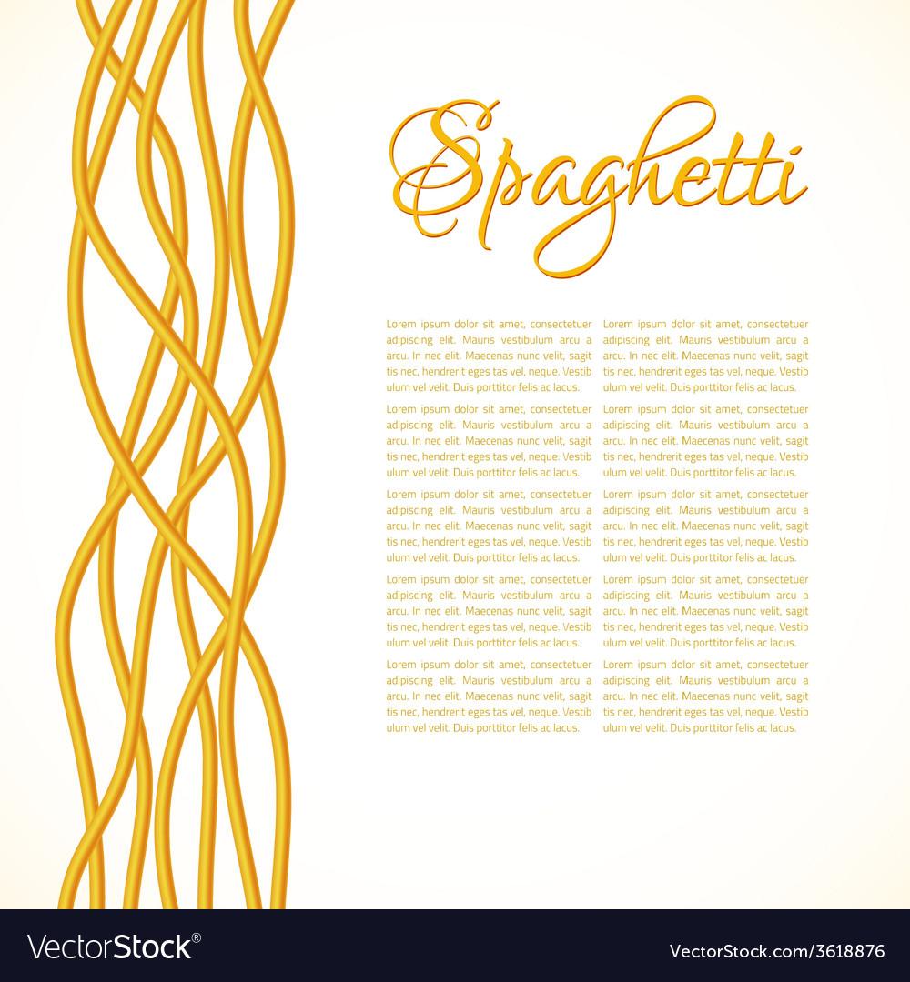 Realistic twisted spaghetti pasta vector | Price: 1 Credit (USD $1)