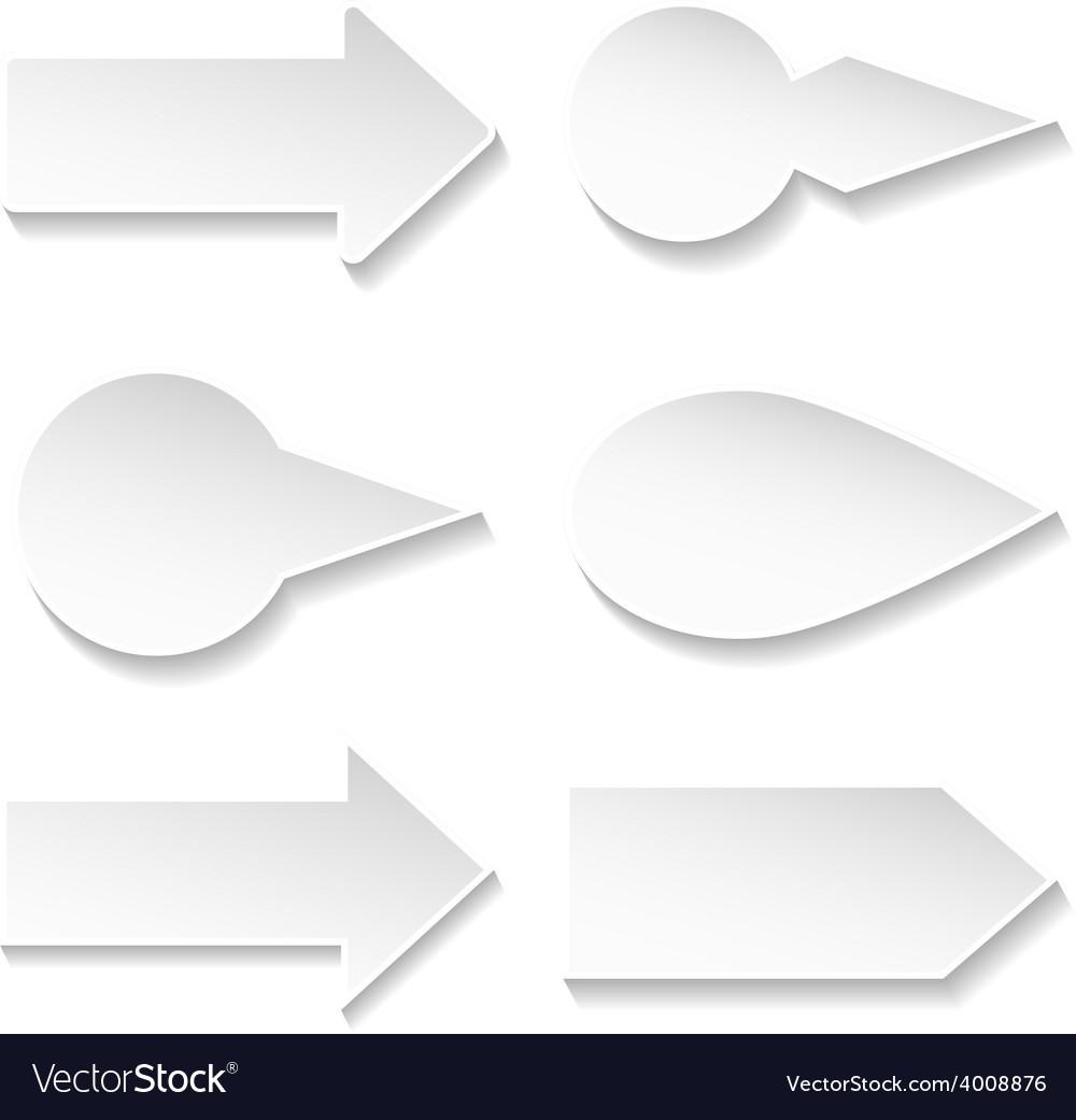 Set of paper arrows vector | Price: 1 Credit (USD $1)