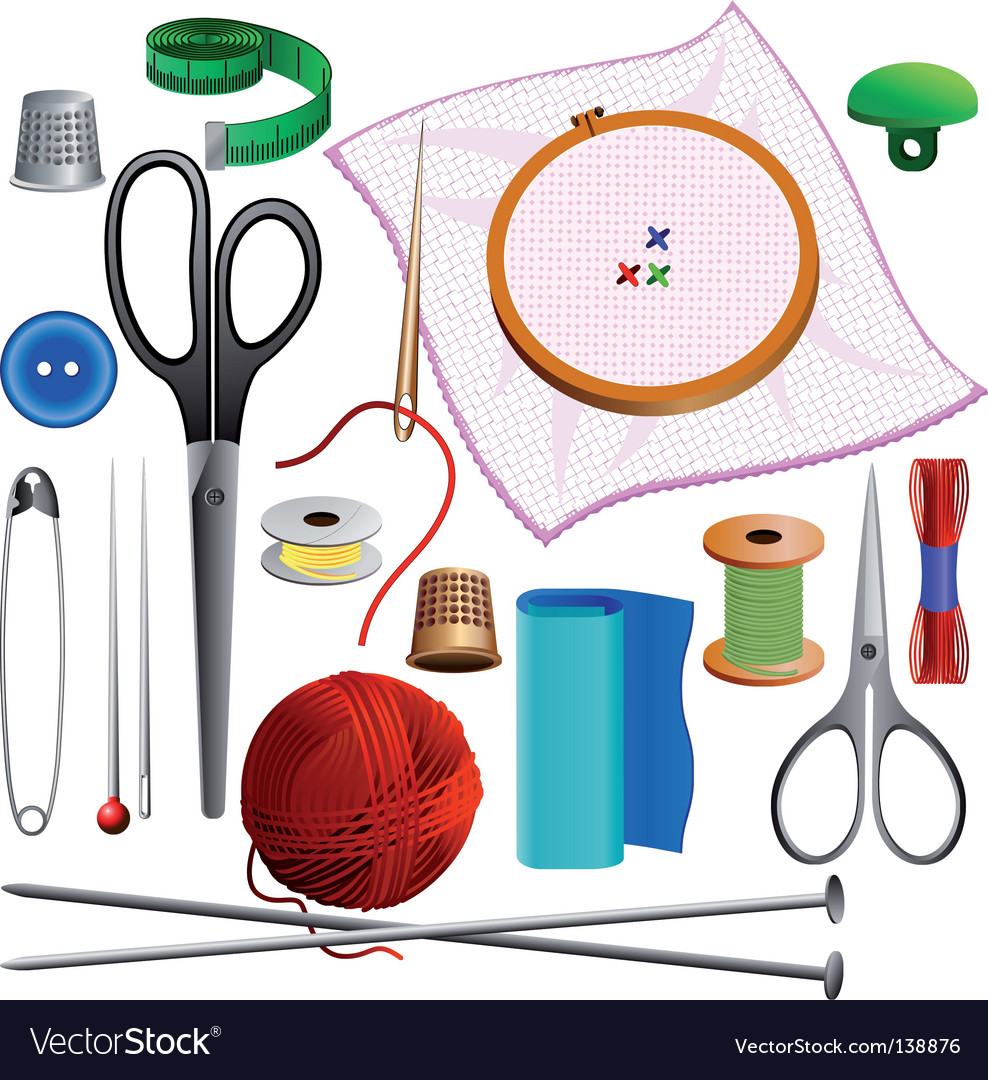 Sewing kit vector | Price: 1 Credit (USD $1)